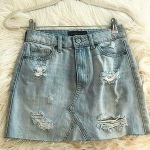 New Aéropostale Light Jean Mini Skirt